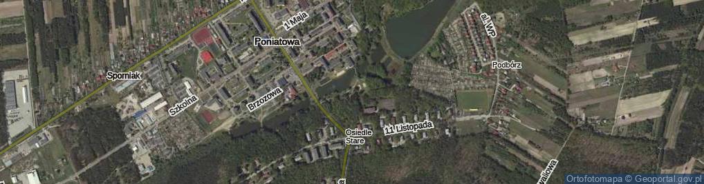 Zdjęcie satelitarne Aleja Spacerowa al.
