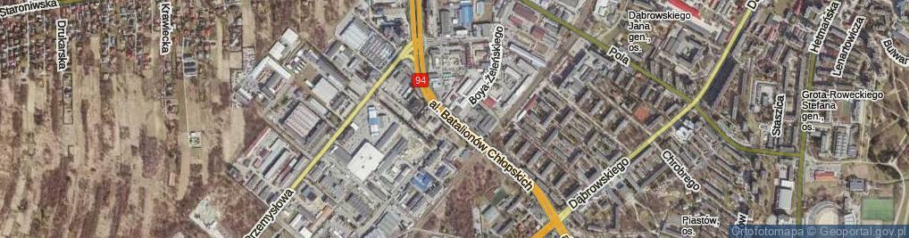 Zdjęcie satelitarne Aleja Batalionów Chłopskich al.
