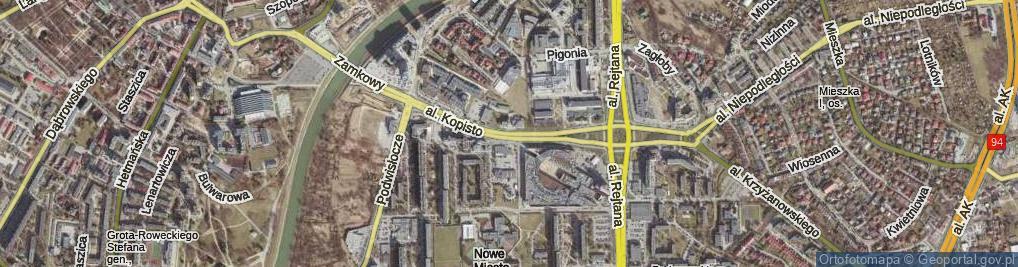 Zdjęcie satelitarne Aleja Kopisto Wacława, mjr. al.