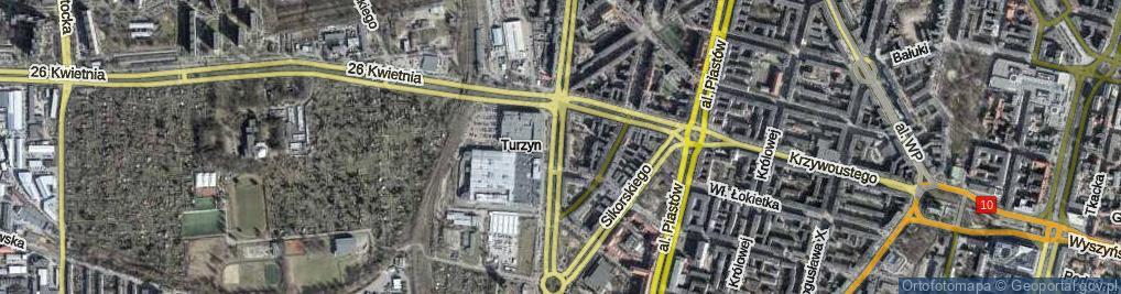 Zdjęcie satelitarne Aleja Bohaterów Warszawy al.