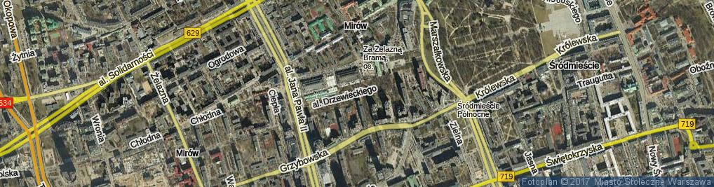 Zdjęcie satelitarne Aleja Drzewieckiego Piotra al.
