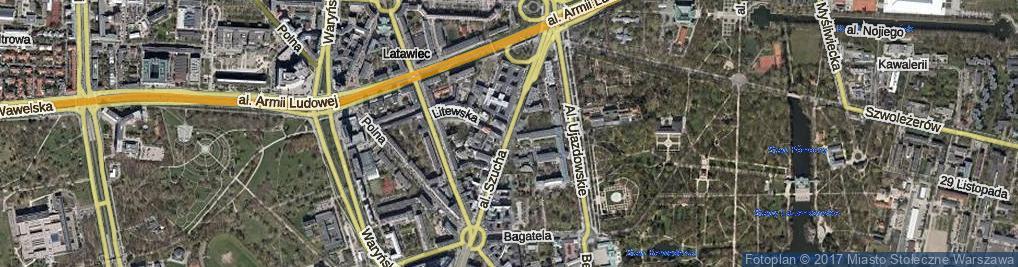 Zdjęcie satelitarne Aleja Szucha Jana Chrystiana al.