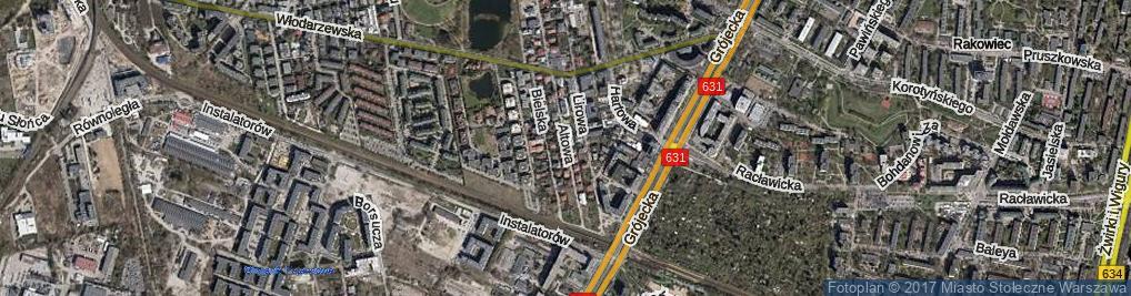 Zdjęcie satelitarne Altowa ul.
