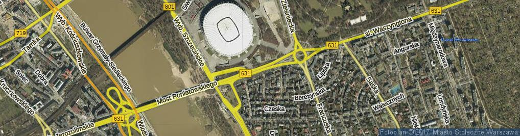 Zdjęcie satelitarne Aleja Księcia Józefa Poniatowskiego al.