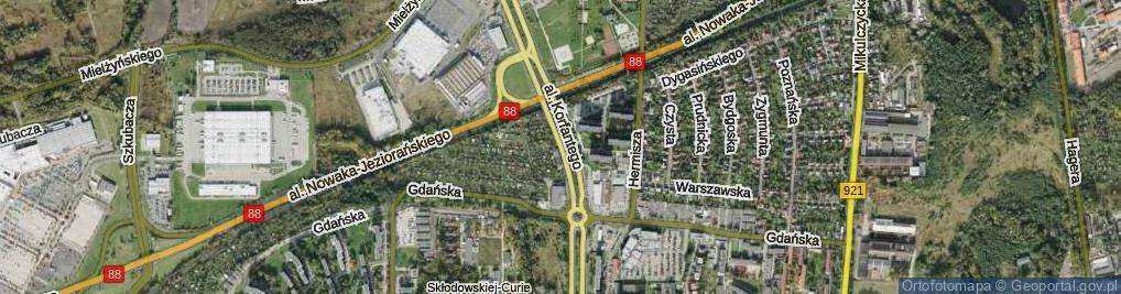 Zdjęcie satelitarne Aleja Korfantego Wojciecha al.