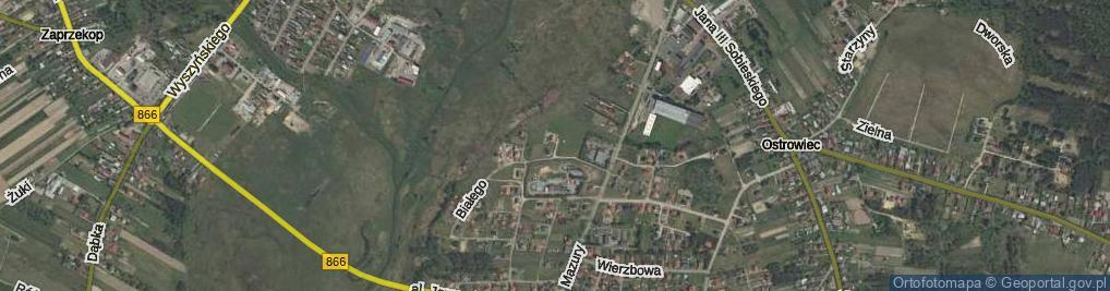 Zdjęcie satelitarne Andrzeja II Węgierskiego ul.