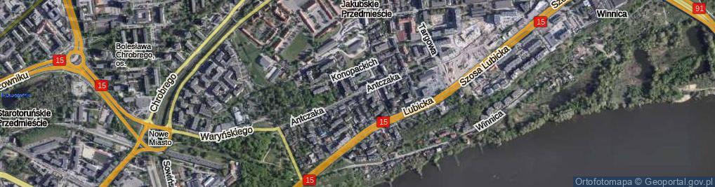 Zdjęcie satelitarne Antczaka Antoniego ul.