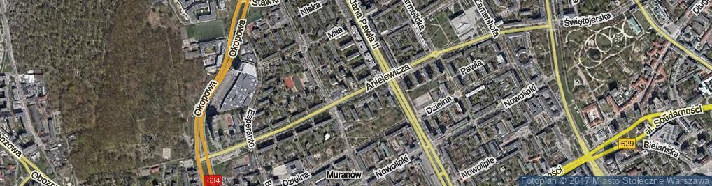Zdjęcie satelitarne Anielewicza Mordechaja ul.