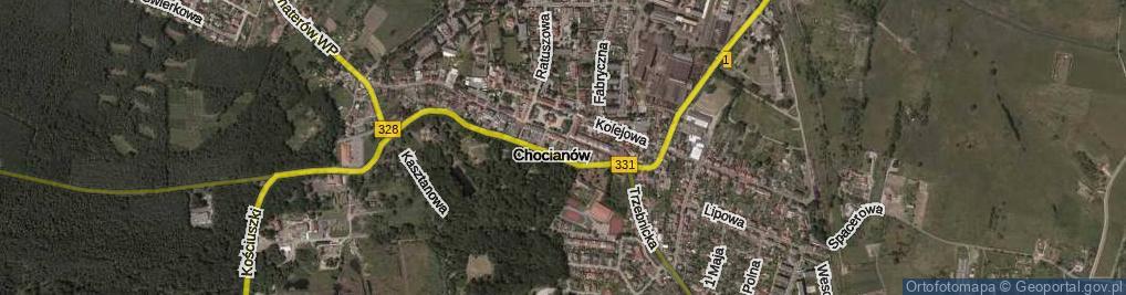 Zdjęcie satelitarne Apteczna ul.
