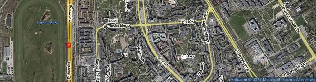 Zdjęcie satelitarne Artystów ul.