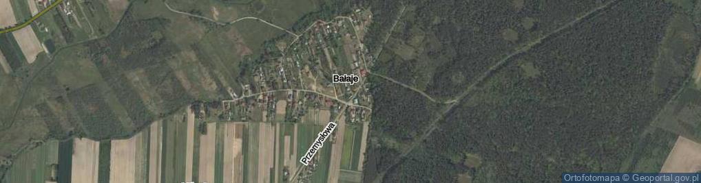 Zdjęcie satelitarne Bałaje ul.