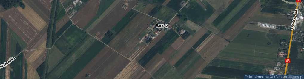 Zdjęcie satelitarne Bartosz ul.