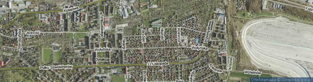 Zdjęcie satelitarne Babinicza Waldemara ul.
