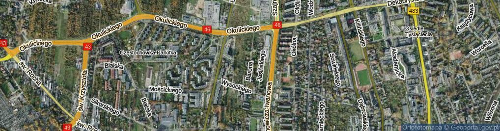 Zdjęcie satelitarne Barona Henryka ul.