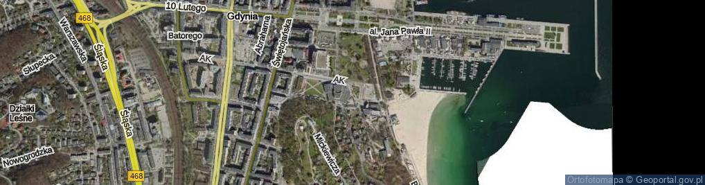 Zdjęcie satelitarne Baduszkowej Danuty ul.