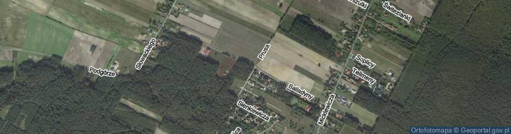 Zdjęcie satelitarne Balladyny ul.