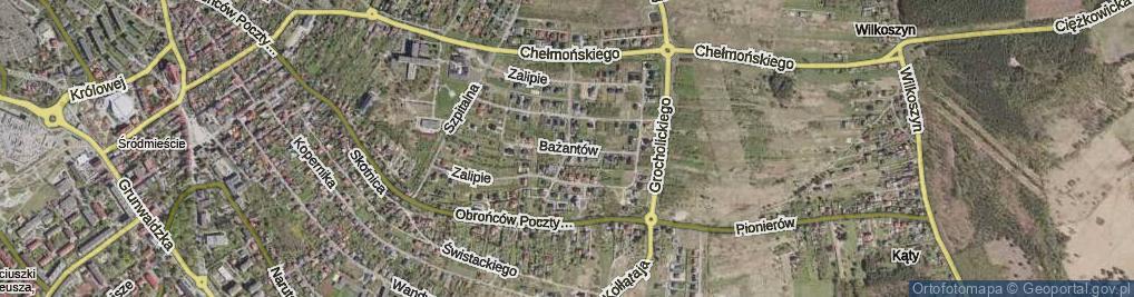 Zdjęcie satelitarne Bażantów ul.