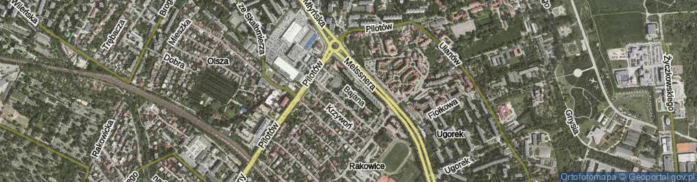 Zdjęcie satelitarne Bajana Jerzego ul.