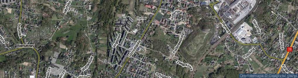 Zdjęcie satelitarne Barbórki ul.