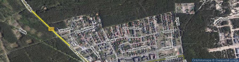 Zdjęcie satelitarne Bananowa ul.