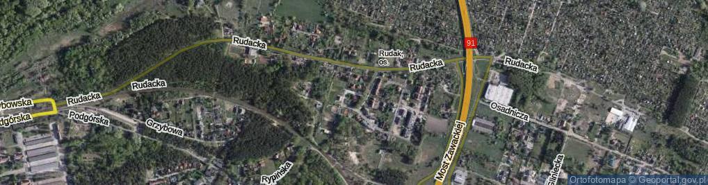 Zdjęcie satelitarne Basieńki ul.