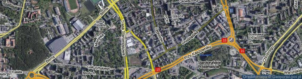 Zdjęcie satelitarne Bawarczyków ul.