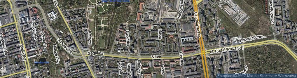 Zdjęcie satelitarne Banioska ul.
