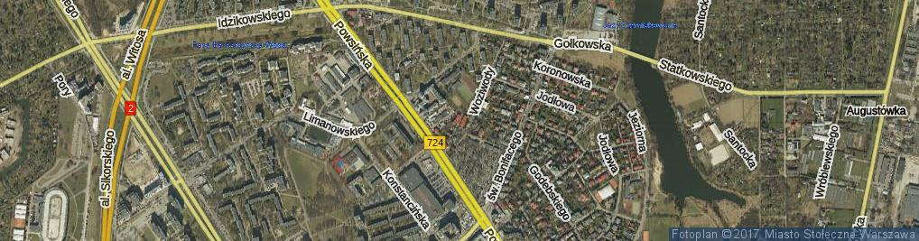Zdjęcie satelitarne Batalionu AK Oaza ul.