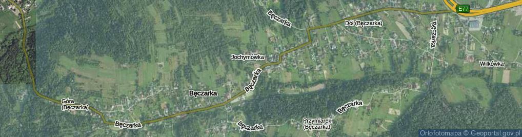 Zdjęcie satelitarne Bęczarka ul.