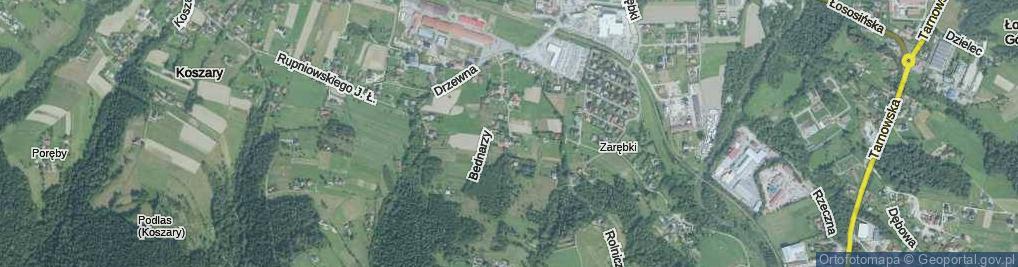 Zdjęcie satelitarne Bednarzy ul.