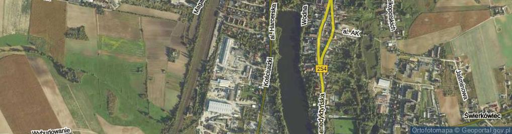 Zdjęcie satelitarne Betonowa ul.