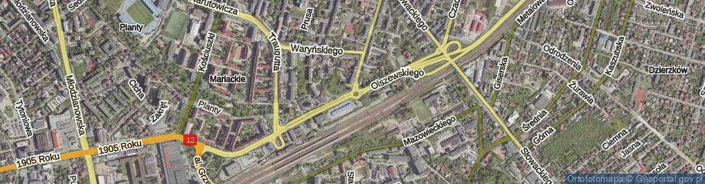 Zdjęcie satelitarne Beliny-Prażmowskiego Władysława ul.