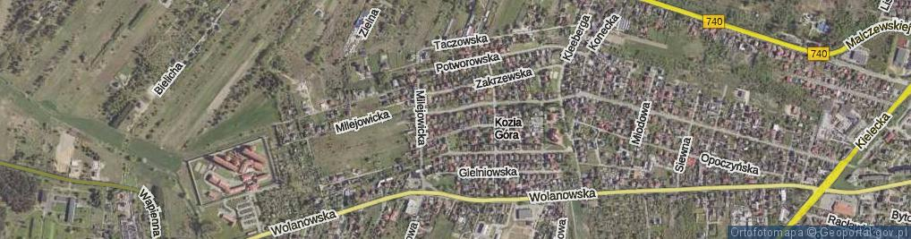 Zdjęcie satelitarne Belska ul.