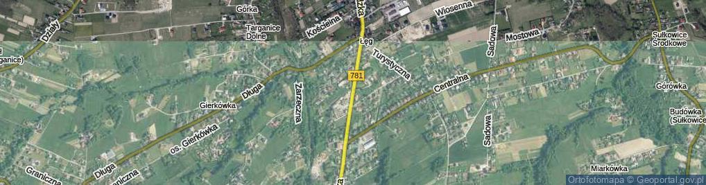 Zdjęcie satelitarne Beskidzka ul.