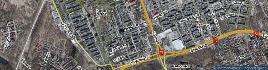 Zdjęcie satelitarne Biedronkowa ul.