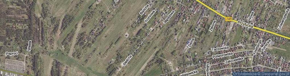 Zdjęcie satelitarne Bielicha ul.