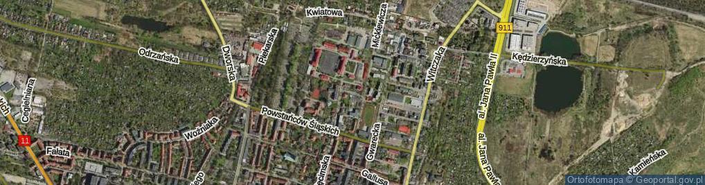 Zdjęcie satelitarne Białego Jana, płk. ul.