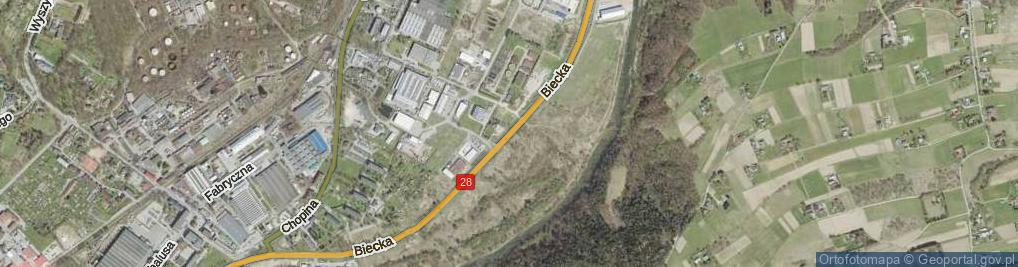 Zdjęcie satelitarne Biecka ul.