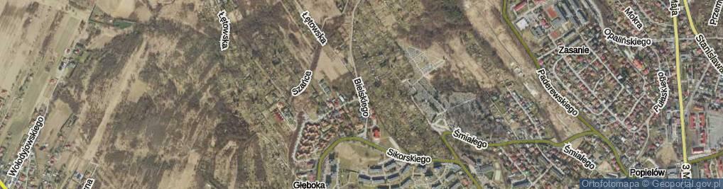 Zdjęcie satelitarne Bielskiego Marcina ul.
