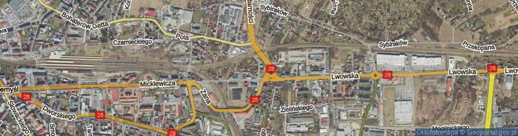 Zdjęcie satelitarne Bilana Włodzimierza ul.