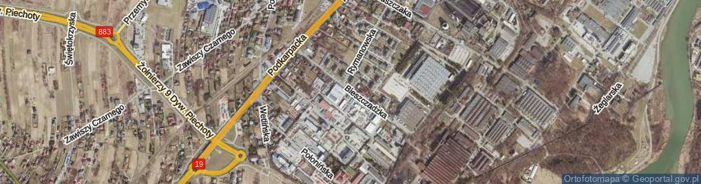 Zdjęcie satelitarne Bieszczadzka ul.
