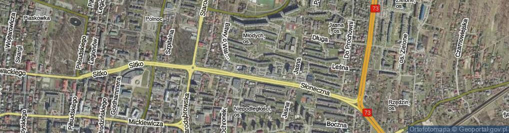 Zdjęcie satelitarne Bitwy o Wał Pomorski ul.
