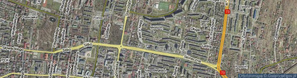 Zdjęcie satelitarne Bitwy pod Studziankami ul.