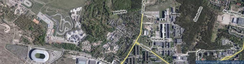 Zdjęcie satelitarne Bielańska ul.