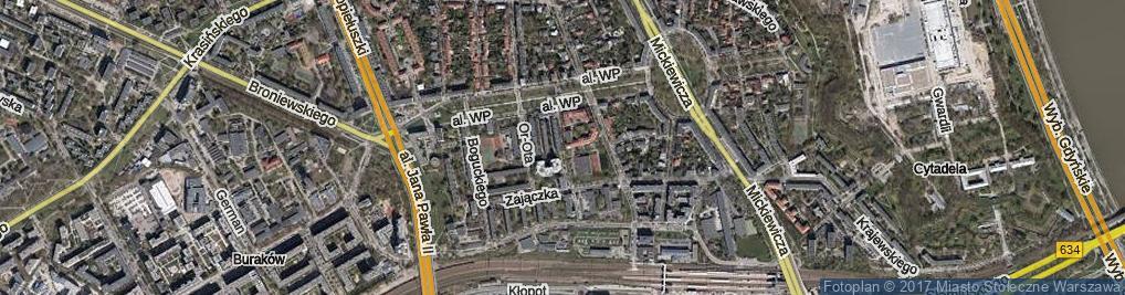 Zdjęcie satelitarne Bitwy pod Rokitną ul.