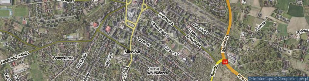 Zdjęcie satelitarne Bluszcza Jana ul.
