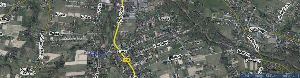 Zdjęcie satelitarne bł. s. Faustyny ul.