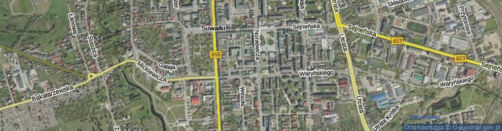 Zdjęcie satelitarne bł. s. Mackiewicz Kanizji ul.