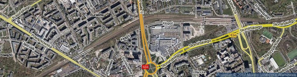 Zdjęcie satelitarne Błońska ul.