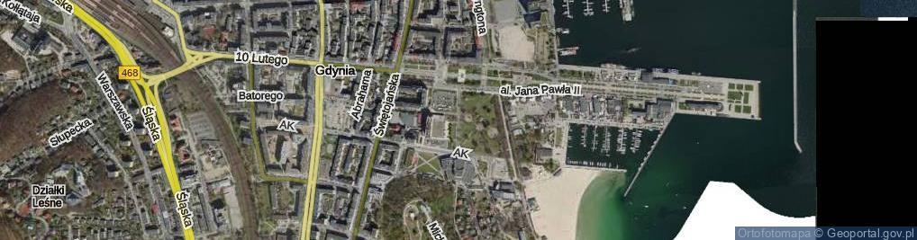 Zdjęcie satelitarne Borchardta Karola Olgierda, kpt. ul.